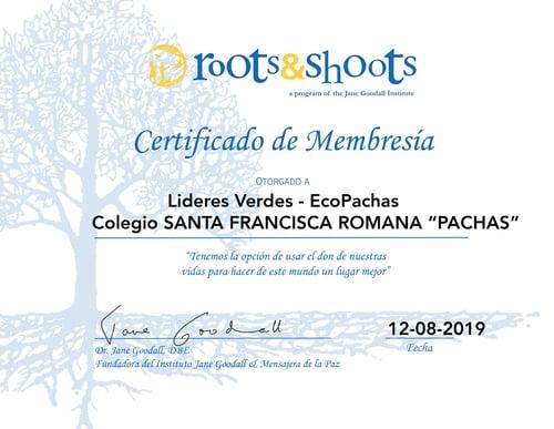 certificado de membresia R&S